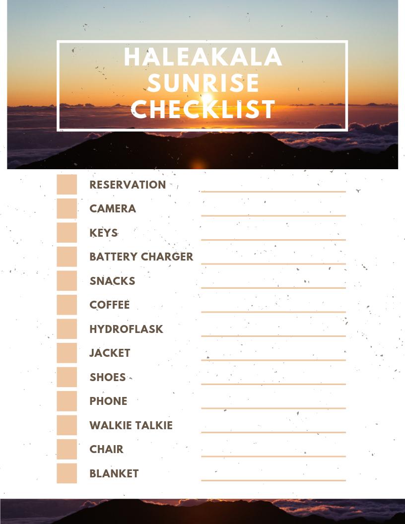 What to Bring for Haleakala Sunrise? + FREE Haleakala Sunrise Checklist 75